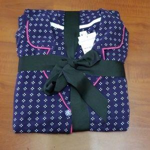 DKNY Printed Notch Collar Pajama Set